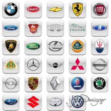 Set of icons - auto brands
