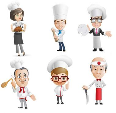 Chief Cook Characters PSD Set