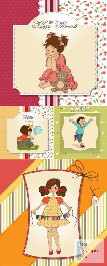 The vector backgrounds with children