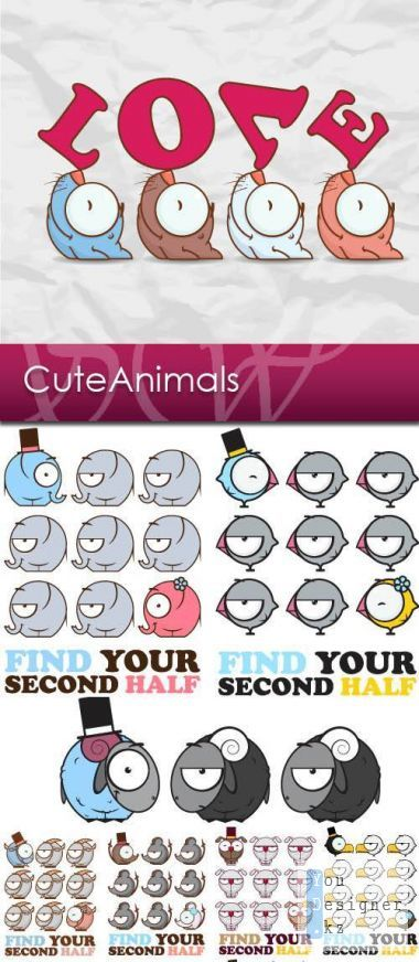 Vector clipart - Cute Animals
