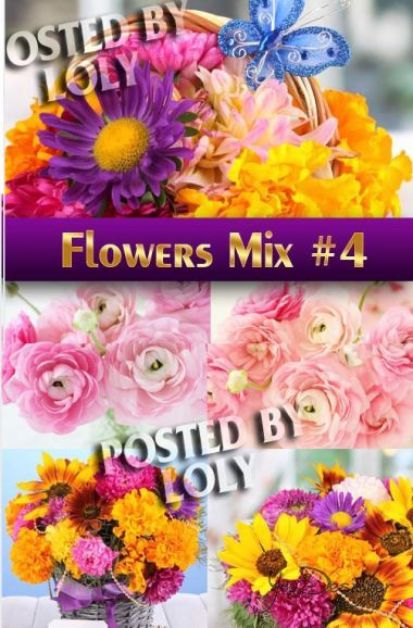 Flower Mix #4 - a vector clipart