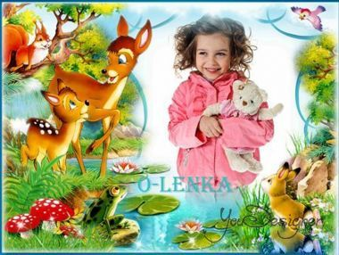 Children's photo-frame - Bambi