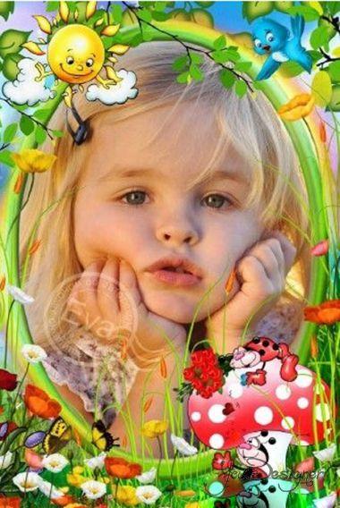 Children's photo-frame - ladybugs