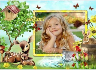 Children's photo-frame - What a wonderful day