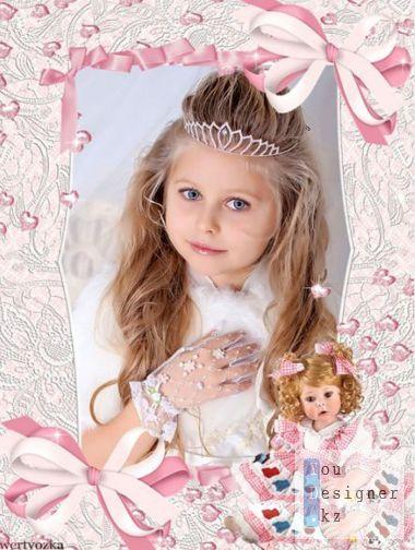 Children's frame for a girl - Doll
