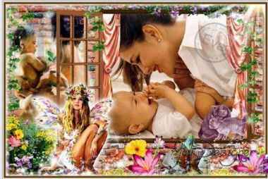 Children's frame for photoshop - Good morning, my baby