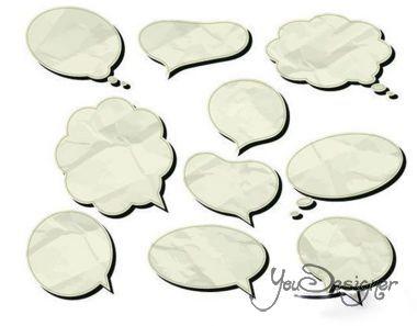 Dialog paper - vector