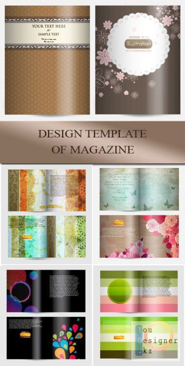 Design template of magazine