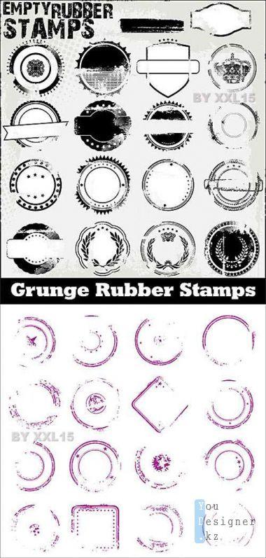 Empty grunge stamps