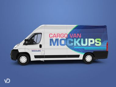 Set of Cargo Van Mockups