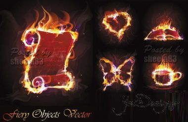 Fiery Objects Vector 2