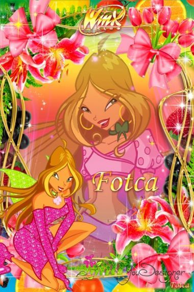 Children's frame for the photo - Winx club (Fairy Flora)