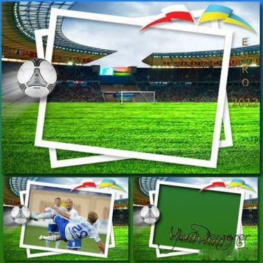 Male photo frame - Football, Euro-2012