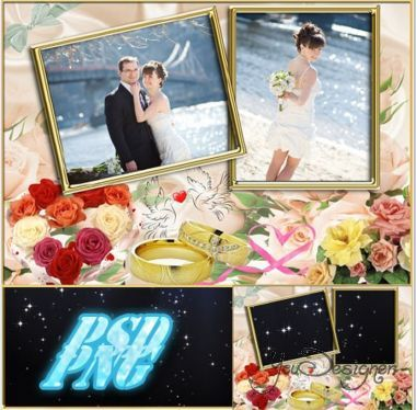 Photo frame wedding - Faithful to our love