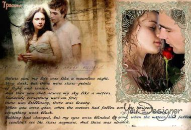 Photoframe for lovers - the twilight Saga