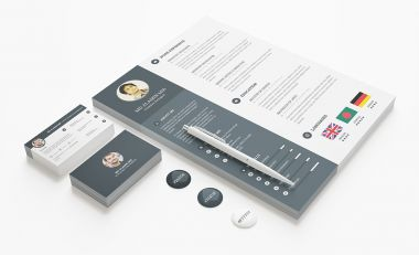 PSD template graphic resume