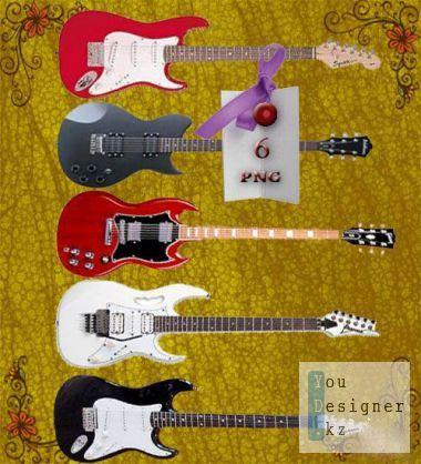 Музыкальный клипарт - Гитары / Music clipart - Guitars
