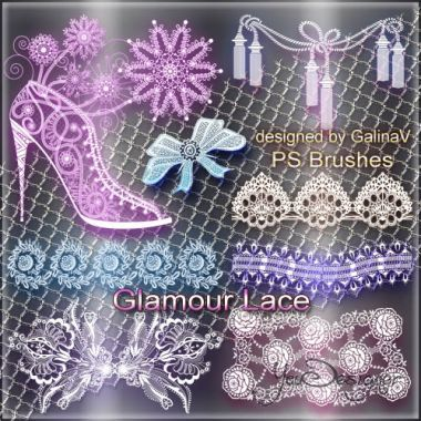 Glamour Lace Photoshop Brushes