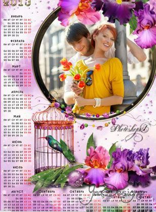 Glamorous calendar for the year 2013 is a Fragile flower Orchid