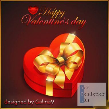 PSD source - Postcards From the Day of St. Valentin