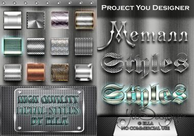 High-quality metal styles for Photoshop