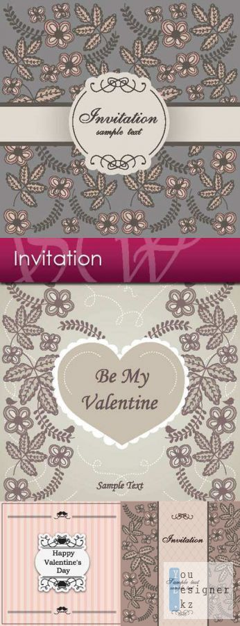 Invitation Love on Valentine's Day
