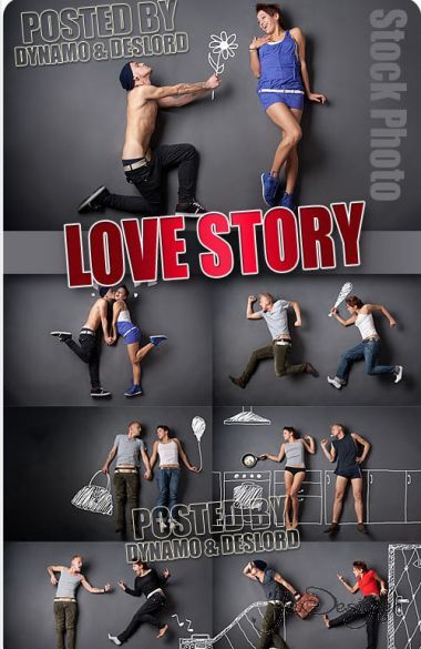 Love story - a vector clipart