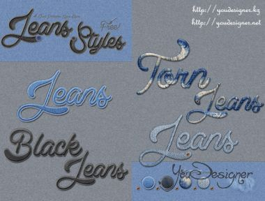 Jeans Styles for Action Photoshop