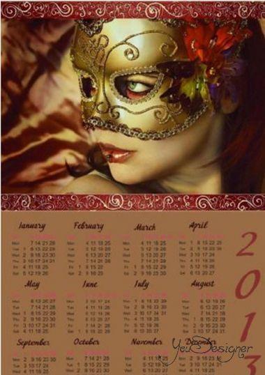 Calendar 2013 - Mask
