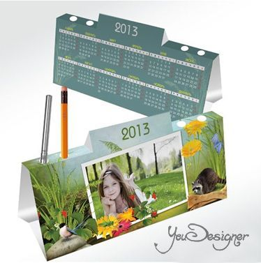 Calendar-house with a pen holder 2013