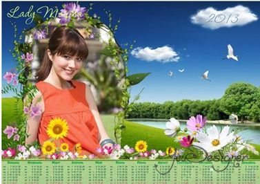 Calendar-the photo frame by 2013 - Flower meadow