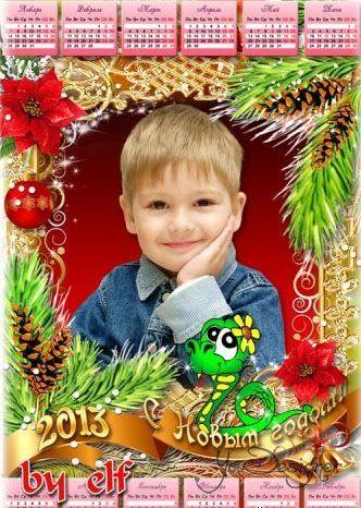 Calendar-frame by 2013 - Christmas tale