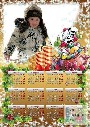 Календарь рамка с дидлами на 2012 год / Calendar frame with didl for 2012