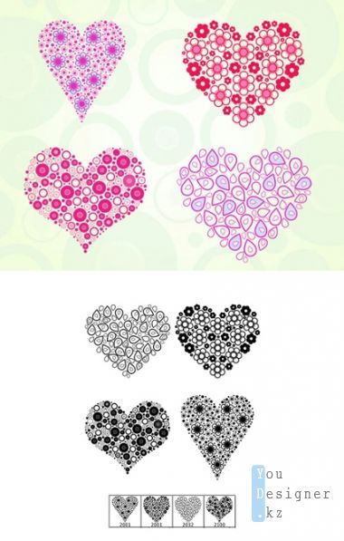 Heart Frames Brushes Set for Photoshop