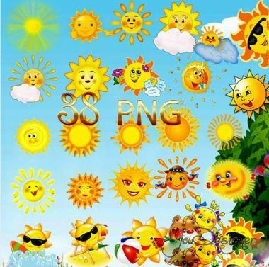 Clipart - the Sun, the sun burning