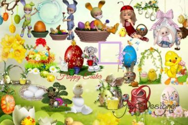 Clipart - Set Of Easter