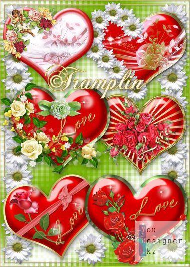 Clipart - Hearts - Valentine