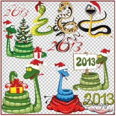 Clipart - a Symbol of 2013, the new year of the snake and the inscriptions