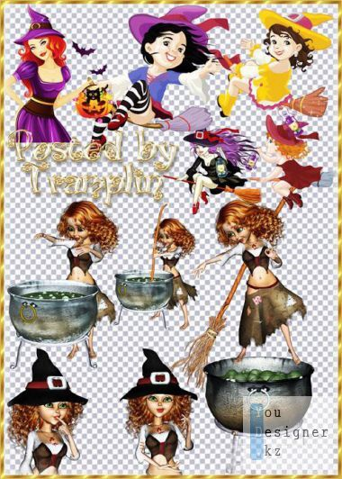 Clipart - Witches Beauties