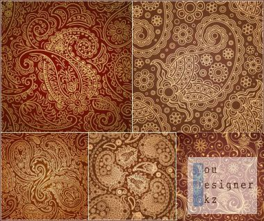 Brown patterns with vintage gold ornaments