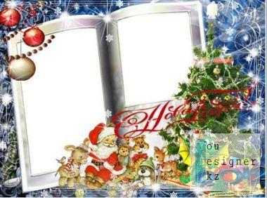 Новогодняя рамка для фото - Лесная сказка / Christmas frame for the photo - the Forest fairy tale