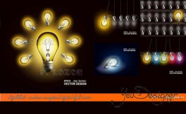 Lightbulb - modern conceptual digital light vector