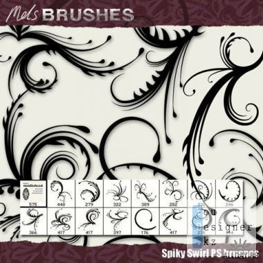 Brushes for photoshop - Line curls