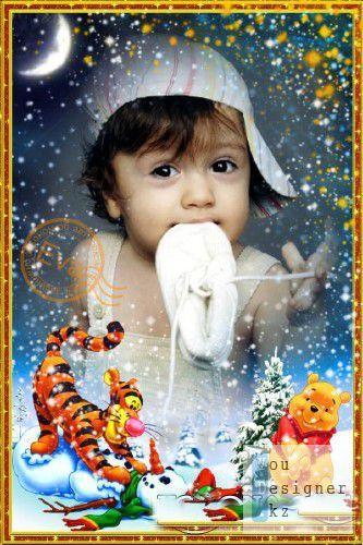Детская фоторамка - Любим пошалить / Children's photo-frame - Love fool around