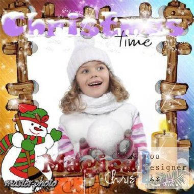 Winter photo frame - Magic of Christmas