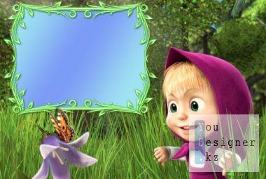 Children's frame - Masha and the bear
