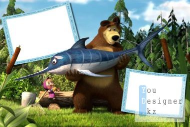 Children's frame - Masha and the bear