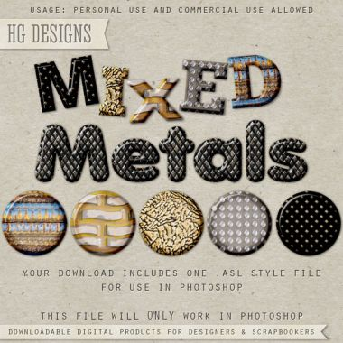 Mixed Metal Styles for Photoshop
