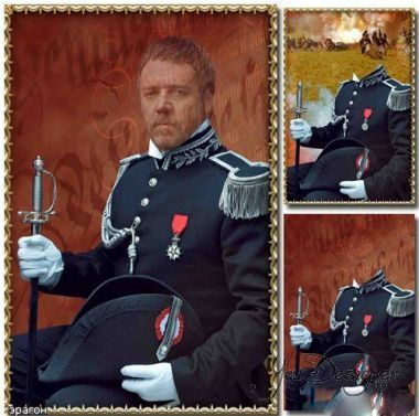 Male pattern for the photomontage - Officer