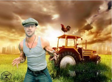 The male template for photoshop - Genk tractor driver